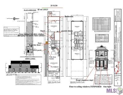 Baton Rouge Single Family Home For Sale: Tbd Hebert St