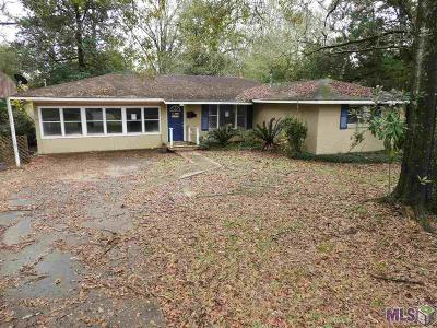 Denham Springs Single Family Home For Sale: 658 Lakeview Dr