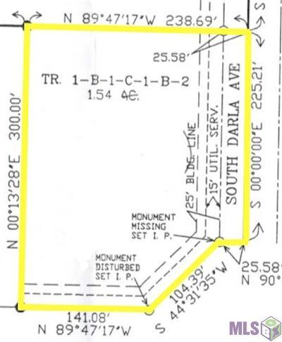 Gonzales Residential Lots & Land For Sale: La Hwy 30