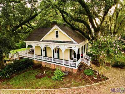 East Baton Rouge Parish Single Family Home For Sale: 18721 Magnolia Bend Rd