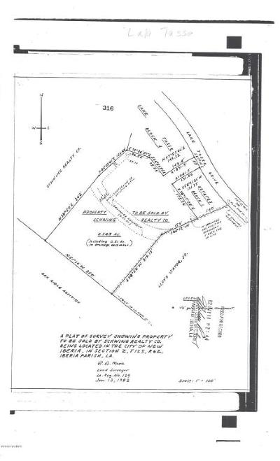 Iberia Parish Residential Lots & Land For Sale: Lake Tasse