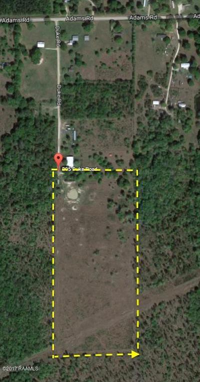 Jefferson Davis Parish Farm For Sale: Tbd Duke Road