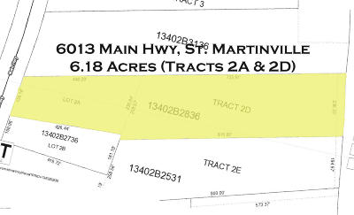 St Martin Parish Residential Lots & Land For Sale: 6013 Main Hwy