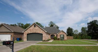 Carencro Single Family Home For Sale: 604 Pelician Ridge