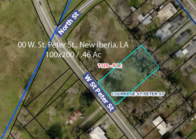 Iberia Parish Residential Lots & Land For Sale: 00 W St Peter Street