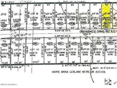 Vermilion Parish Residential Lots & Land For Sale: 2902 Orangewood Dr.