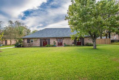 New Iberia Single Family Home For Sale: 3904 Ave Bonne Terre