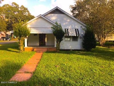 Abbeville Single Family Home For Sale: 601 S Louisiana Street