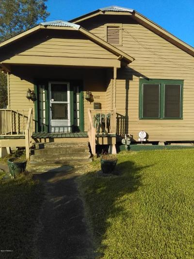 Jeanerette Single Family Home For Sale: 612 Alexander Street