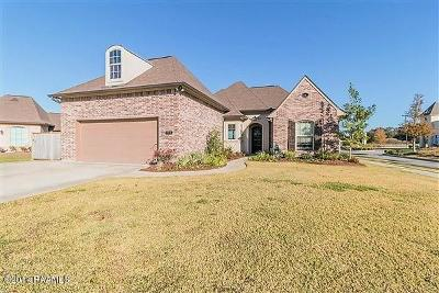 Youngsville Single Family Home For Sale: 100 Bayou Parc Drive