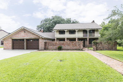 New Iberia Single Family Home For Sale: 3930 Bayou Boulevard