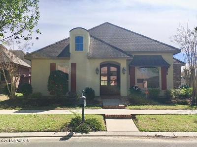 Lafayette Single Family Home For Sale: 115 N Montauban Drive