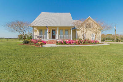 Abbeville  Single Family Home For Sale: 8310 Sidney Gautreaux Road