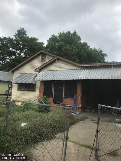 Lafayette LA Single Family Home For Sale: $21,500