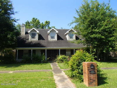 Lafayette Single Family Home For Sale: 109 Hermitage Avenue