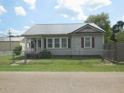 Jeanerette Single Family Home For Sale: 403 Canal Street