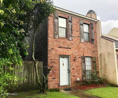 Lafayette  Single Family Home For Sale: 205 Long Plantation Boulevard #D