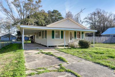Jeanerette Single Family Home For Sale: 2726 Allain Street