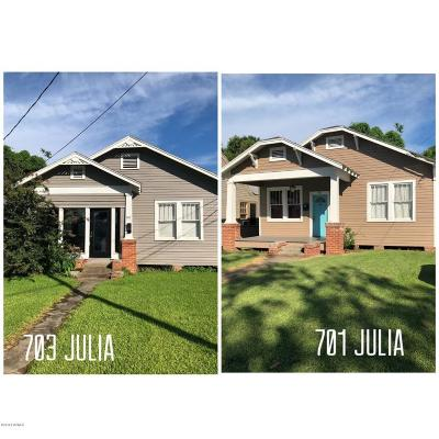 New Iberia Single Family Home For Sale: 701/703 Julia Street