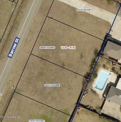 Iberia Parish Residential Lots & Land For Sale: Barrow Street