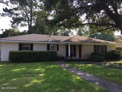 Lafayette Single Family Home For Sale: 211 Broadmoor Boulevard