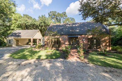 St Martinville, Breaux Bridge, Abbeville Single Family Home For Sale: 8303 River Road