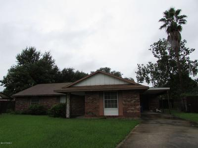 Lafayette Single Family Home For Sale: 301 Toulouse Drive