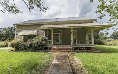 Jeanerette Single Family Home For Sale: 201 N Pellerin Street