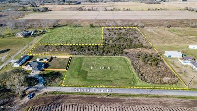 Vermilion Parish Residential Lots & Land For Sale: Tbd Roland Farm
