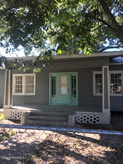 Lafayette Single Family Home For Sale: 813 Voorhies Street