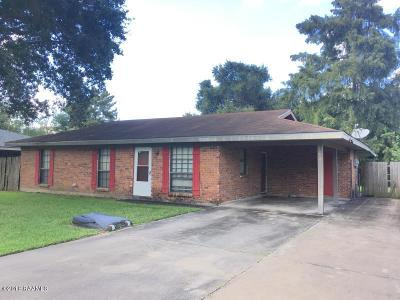 Carencro Single Family Home For Sale: 114 Collins Drive
