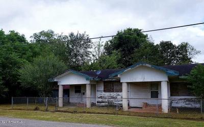 Jeanerette Single Family Home For Sale: 533 St Nicholas Street
