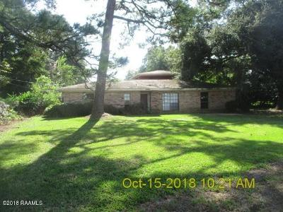 New Iberia Single Family Home For Sale: 1501 Freyou Road