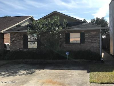 Lafayette Single Family Home For Sale: 171 Gena Marie Drive