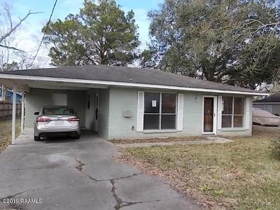 New Iberia Single Family Home For Sale: 109 Cotton Street