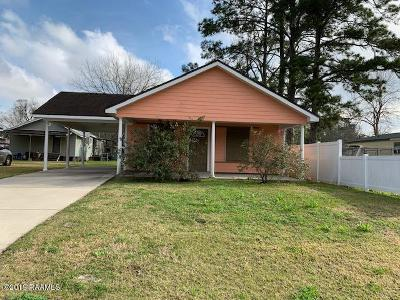 New Iberia Single Family Home For Sale: 721 Courrege Street