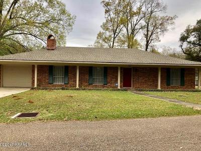 St Martinville, Breaux Bridge, Abbeville Single Family Home For Sale: 106 S Hollingsworth Drive