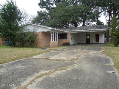 New Iberia Single Family Home For Sale: 702 Prioux Street