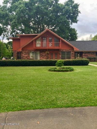 St Martinville, Breaux Bridge, Opelousas Single Family Home For Sale: 292 Country Ridge Road