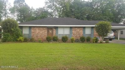 Carencro Single Family Home For Sale: 134 Laplace Avenue