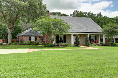 New Iberia Single Family Home For Sale: 107 Oak Hill Road