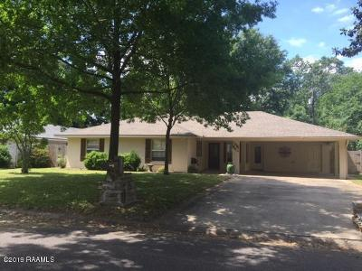 Lafayette Single Family Home For Sale: 240 Marilyn Drive