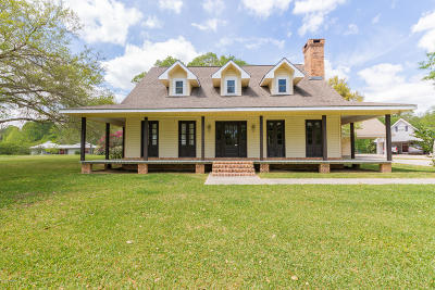 St. Martinville Single Family Home For Sale: 1577 Hebert Lane