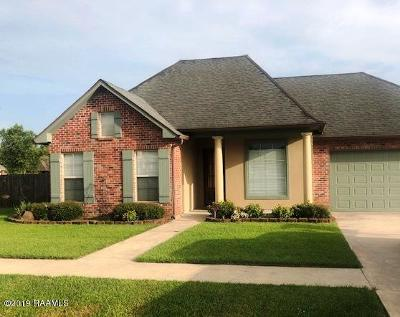 Carencro  Single Family Home For Sale: 105 Magnolia Knee Drive