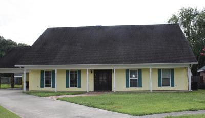 Carencro Single Family Home For Sale: 411 Rue Colombe