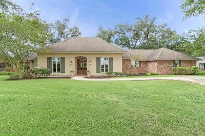 New Iberia Single Family Home For Sale: 2203 Bayou Bend Road