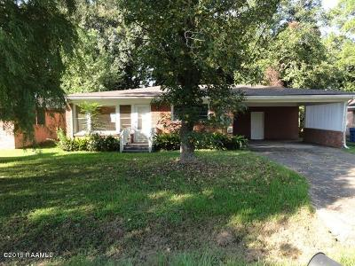Lafayette  Single Family Home For Sale: 109 Belle Dame Drive