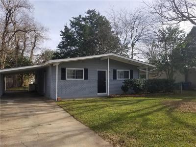 Alexandria LA Single Family Home For Sale: $129,000