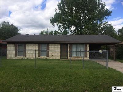 Monroe LA Single Family Home For Sale: $75,000