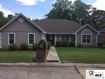 West Monroe Single Family Home Active-Pending: 101 Aspen Circle